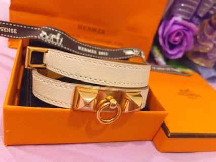 降價割愛💔專櫃正品Hermes愛馬仕雙圈手環⭐️全新
