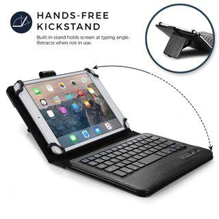🚚 Cooper Infinite Executive Keyboard Case for 7'' - 8'' inch Tablets   2-in-1 Bluetooth Wireless Keyboard & 14 Hotkeys (Black)