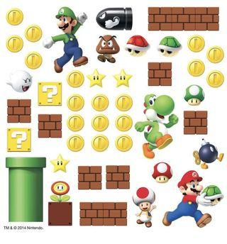 Nintendo Super Mario Bros Peel and Stick Wall Decal Stocker (Room mates)