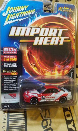順豐站包郵 Johnny Lightning 1/64 日產 Skyline GT-R GTR R34 BNR34 bridgestone (非 tomica hot wheels hotwheels mini gt tarmac tiny)