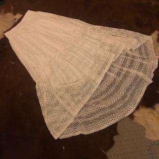 Strawberry champagne crochet laced mermaid tail layered skirt #swapAUS