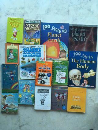 🚚 Bulk set of 15 books, lower primary age