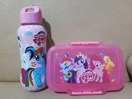 Little Pony Set for Baby (Mini Size Bottle and Lunch Box) #lalamoveCarousell