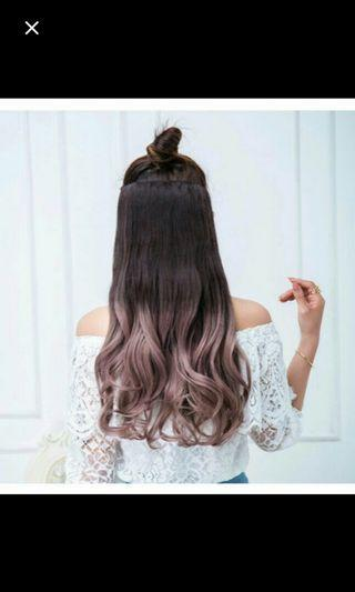 (NO INSTOCKS!)Preorder korean wavy clip on hair extension * waiting time 15 days after payment is made *chat to buy to order