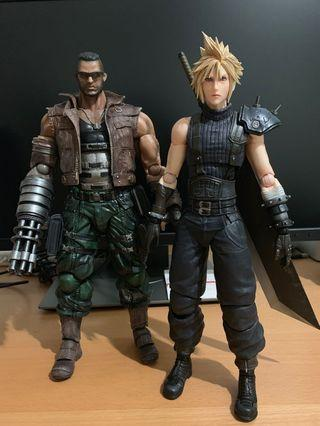 Play Arts Kai Final Fantasy VII FF7 Remake Cloud & Barret