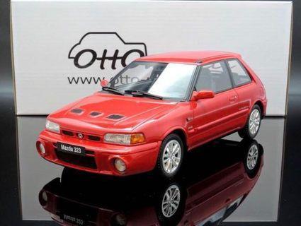 全新絕版1/18 Ottomobile Mazda 323 GT-R Red OT255