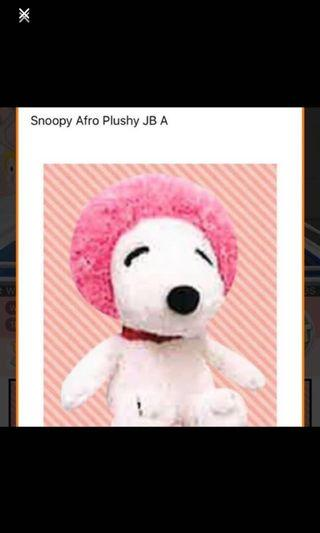 Snoopy afro Plushy