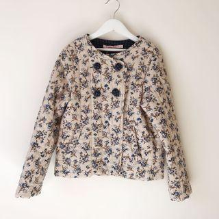 *NEW* Girls floral Quilted jacket size 8-9