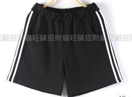 復古休閒運動短褲/情侶/舒適/運動短褲/短褲/寬鬆/大碼/大尺碼