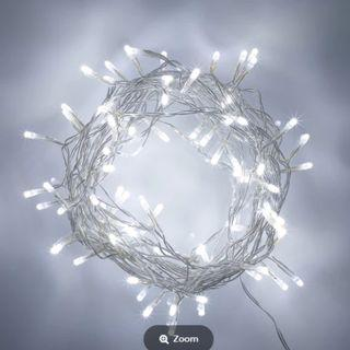 Flexible Fairy Lights 100 led 3xAA Battery Operated - White