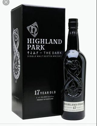 HP The Dark with complimentary 50ml Macallan Amber