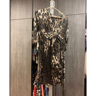 Cut Label Dress Leopard Brown (Like New)