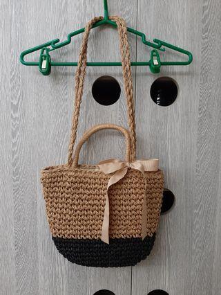 🚚 衹背一次🌷編織蝴蝶結包包