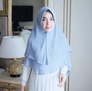 Khimar Hijab Instan Lozy Warna Biru