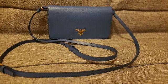 Prada Saffiano Wallet on a Sling