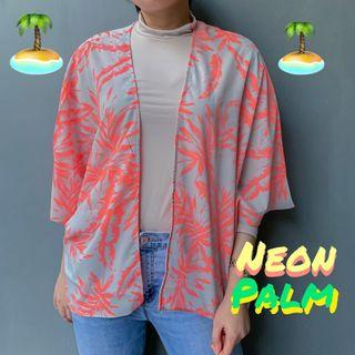 Neon palm outer blazer new look