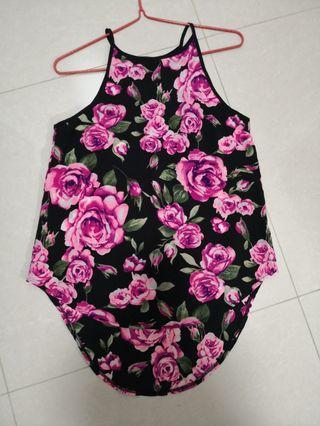 TEMT black rose hi low top