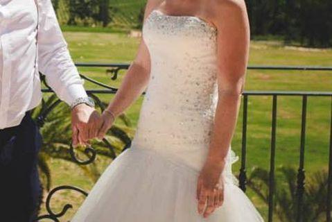 Wedding dress with Swarovski Crystal bodice