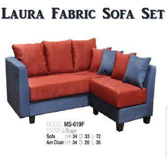 Super Comfortable! L Shape Full Fabric Sofa