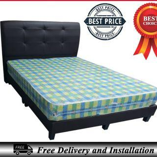 Queen Size Bedframe + 6inches Foam Mattress
