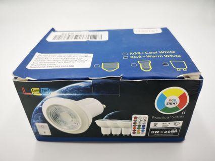 🚚 RGB + Warm White Bulb with Remote Control (4pcs/set)