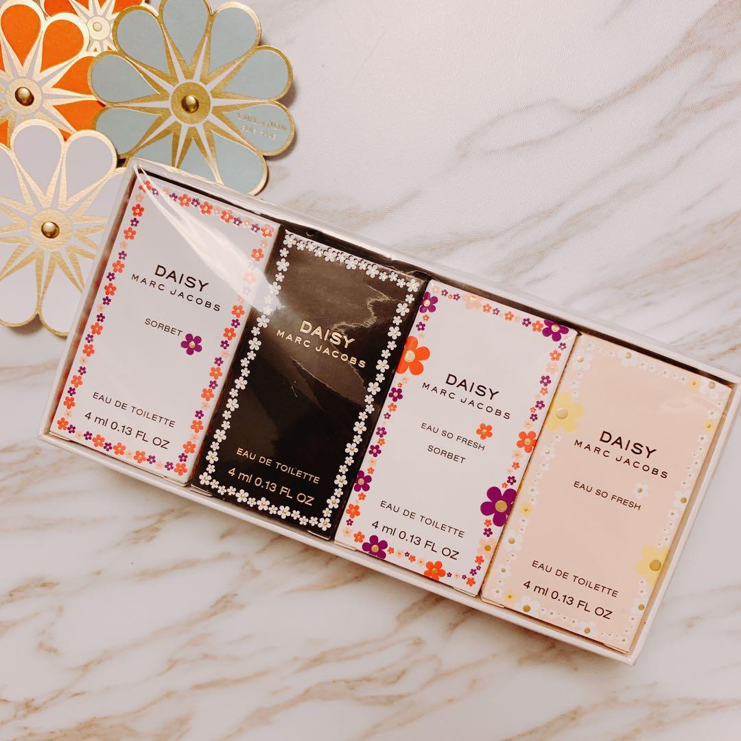 $228 Marc Jacobs daisy sorbet eau so fresh 4ml x 4支 迷你版香水仔 女士 mini sample