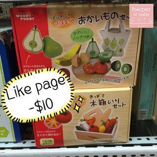 ‼️Like Page再減$10‼️ 日本 木製 磁石 切水果 切蔬菜 🍅 認識蔬果 面試必備
