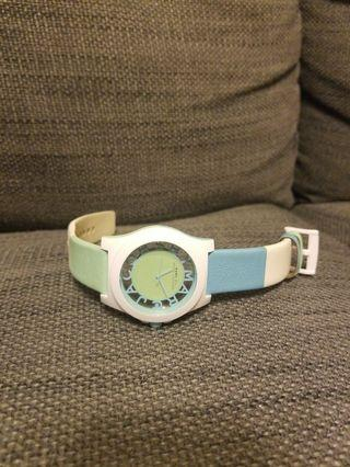 Marc by Marc Jacobs leather summer pastel colour watch (used by good condition)
