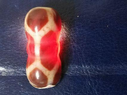 Longevity Tortoise Shell Dzi Jin Gang Zhu Dragon Scale Agate Bead