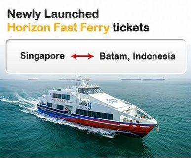 Horizon fast ferry to Harbourbay Batam