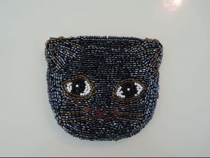 Kitty Cat Beaded Purse貓咪釘珠散銀包 🐱