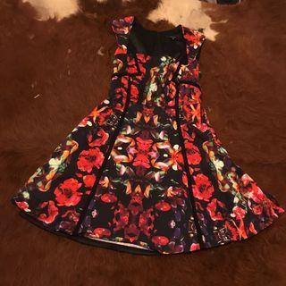 Portman's bondage floral design dress