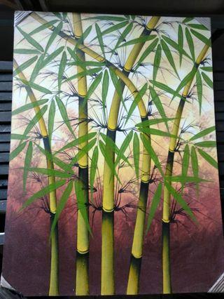 Bali Oil Painting - Bamboo