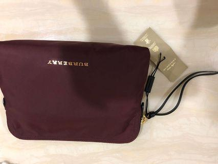 Burberry burgundy pouch