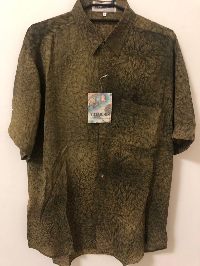 復古✨古著綠藻襯衫