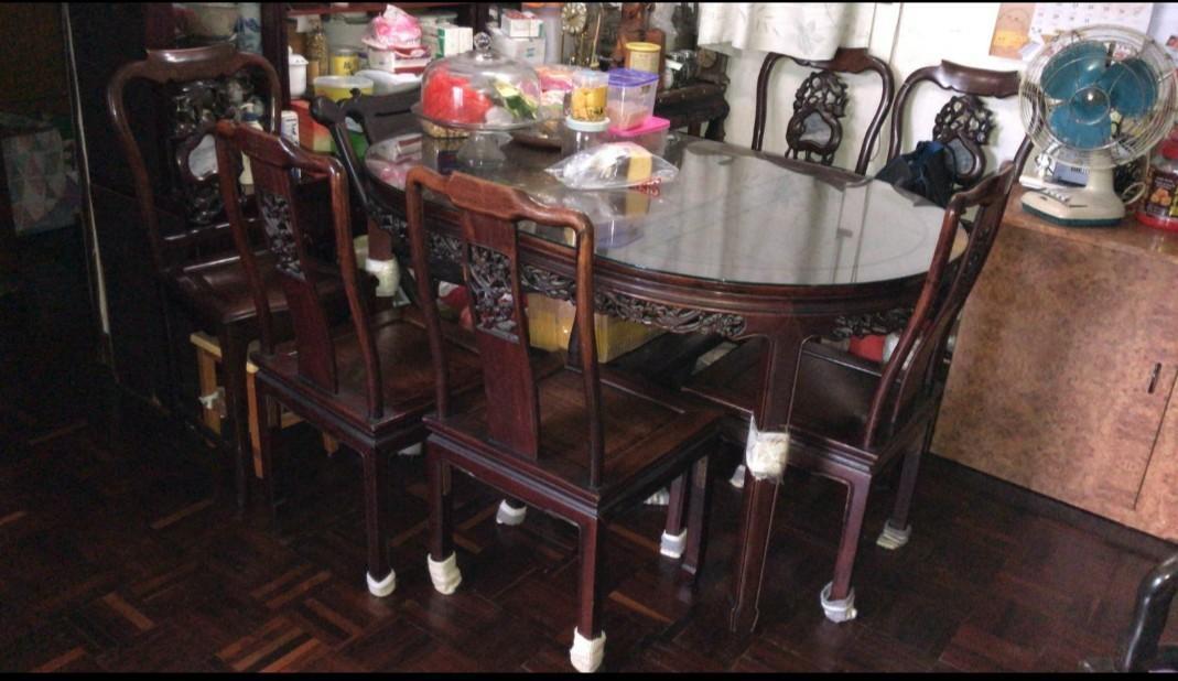一台六椅花梨