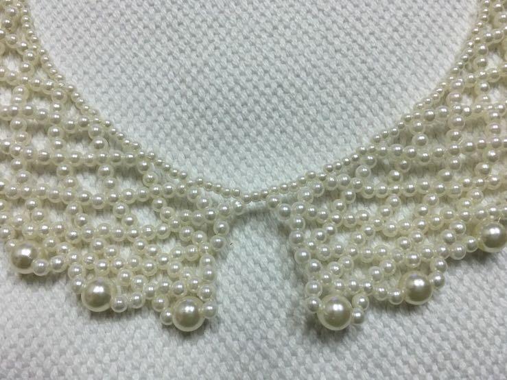 珠珠項鍊假領