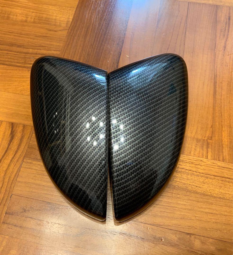 福士 大眾 VW POLO 側鏡殼 碳纖紋