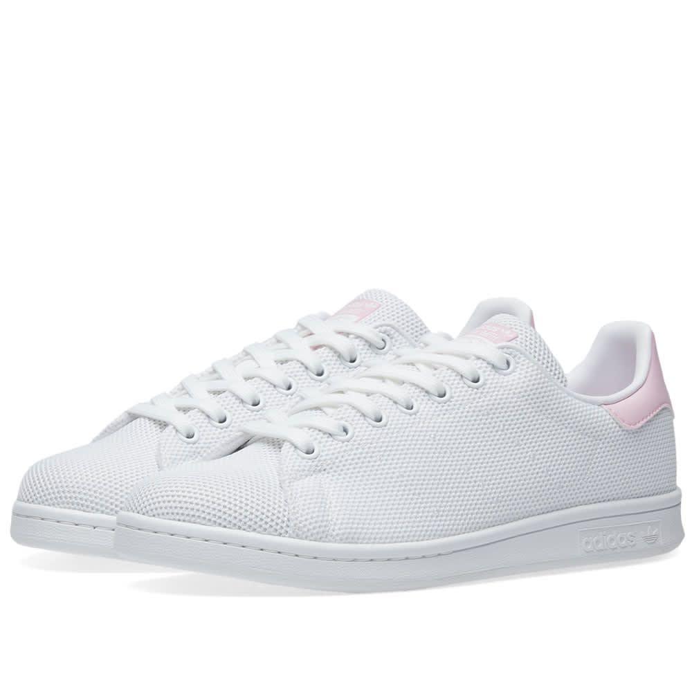 new style 6e19b c2a44 Adidas Stan Smith Women White & Wonder Pink