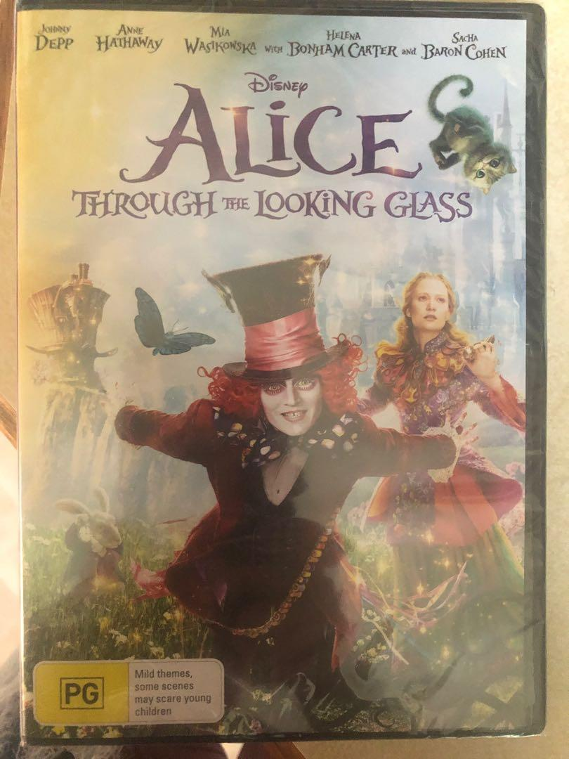 Alice through the looking glass DVD in plastic packet