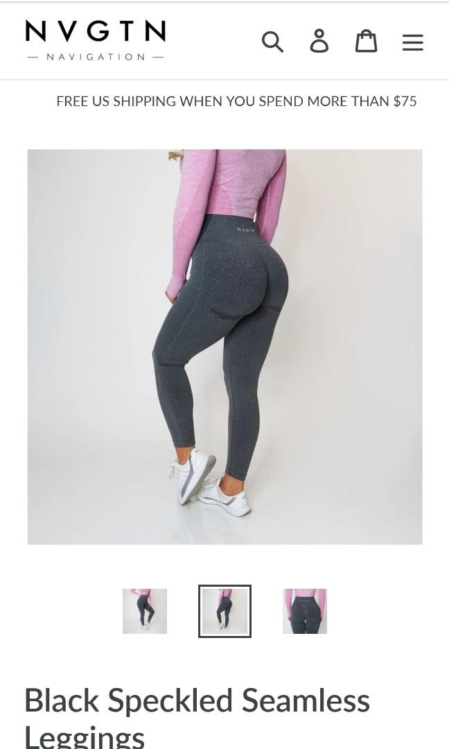 NEW NVGTN DARK GREY SPECKLE CONTOUR LEGGING XS. SOLD OUT