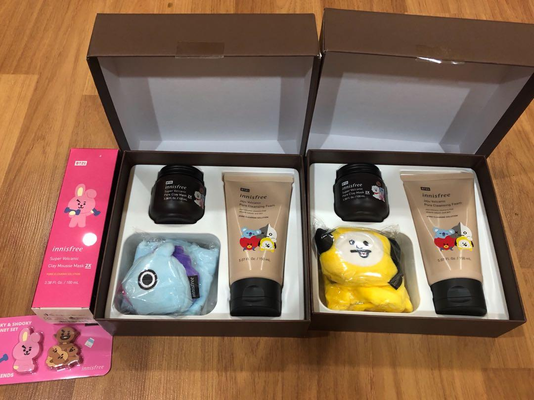 BTS BT21 Chimmy Jimin Mang Jhope Cooky Jungkook Innisfree Volcanic Pore Clay Mask