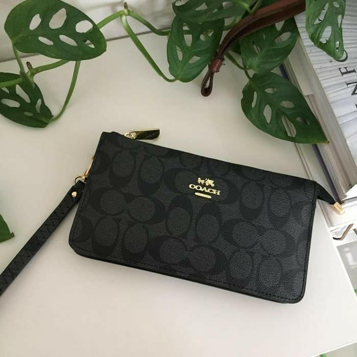 Coach Wrislet pouch clutch dompet make up semi premium import #joinjuli