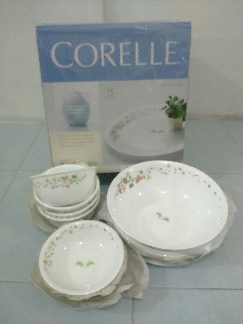 Corelle - 15 pieces set (Dancing Floral)