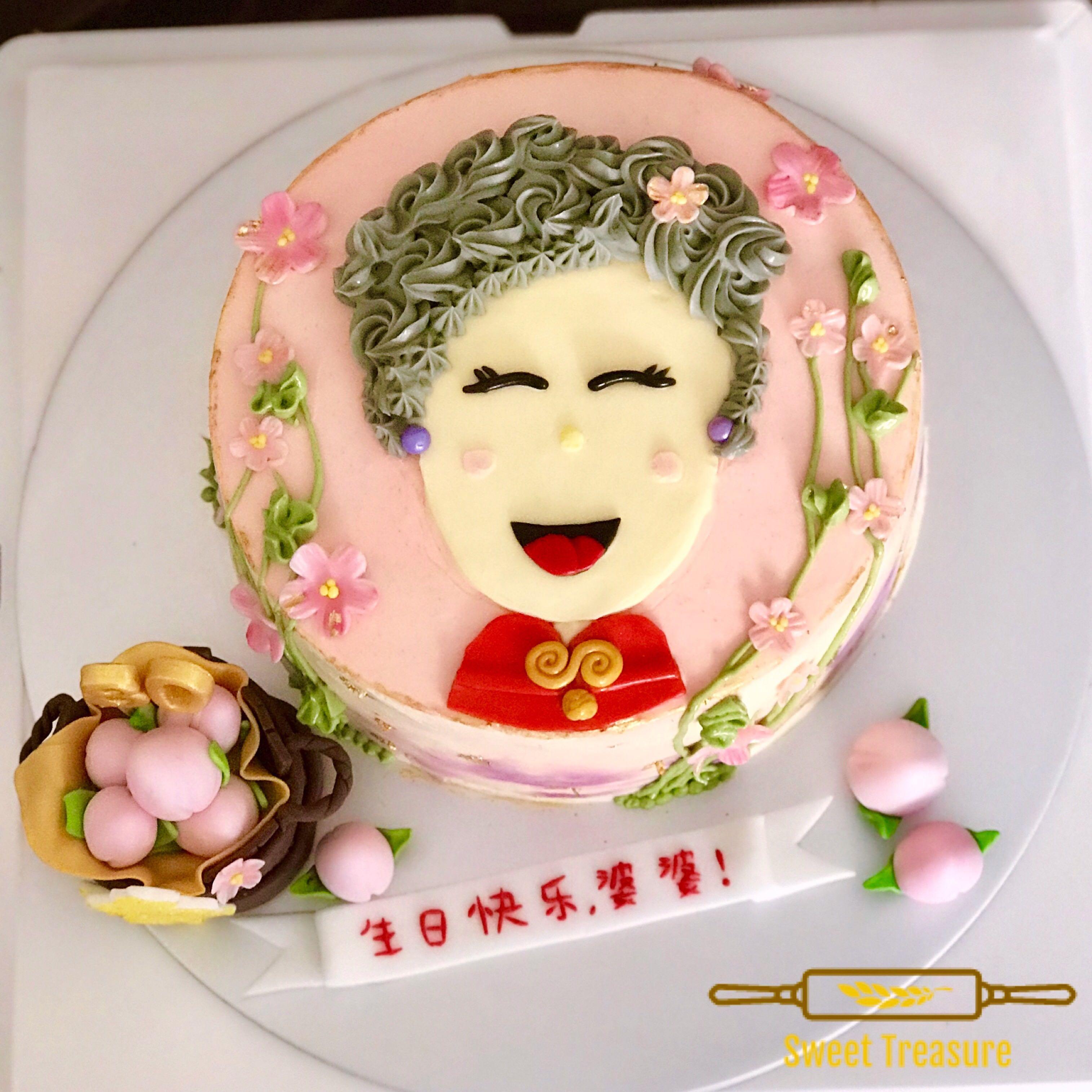 Sensational Customised Grandma Birthday Cake Food Drinks Baked Goods On Funny Birthday Cards Online Chimdamsfinfo
