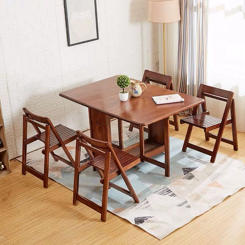 Dining Table And 4 Chairs Set Solid Wood