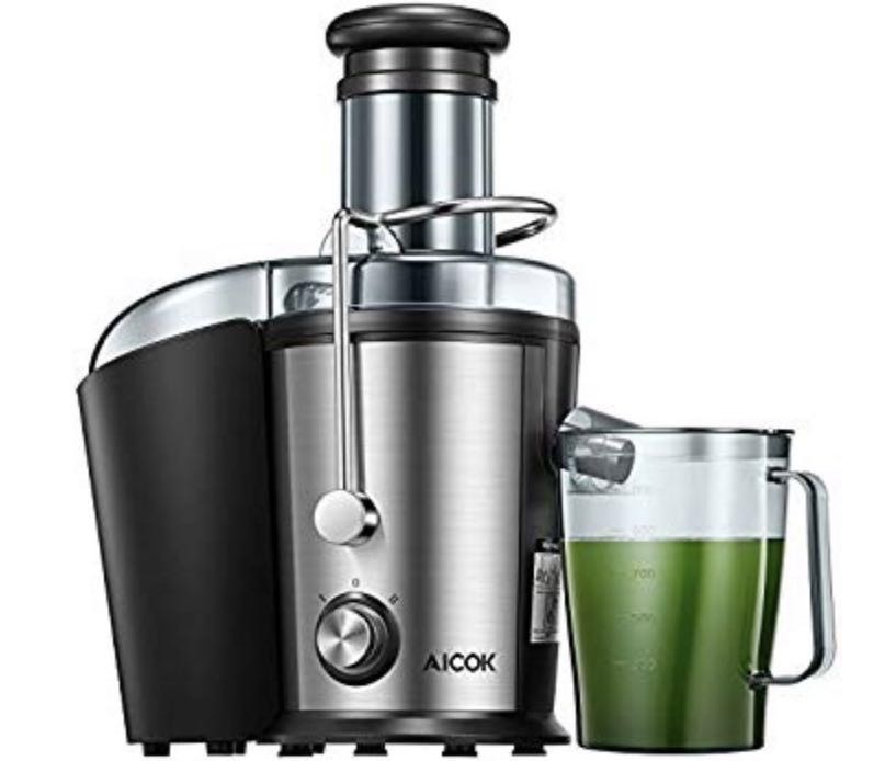 E2780 Aicok Juicer 1000w Powerful Juicer Machine Real 3 Whole Fruit And Vegetable Feeder Chute Juice Extractor Dual Speeds Centrifugal