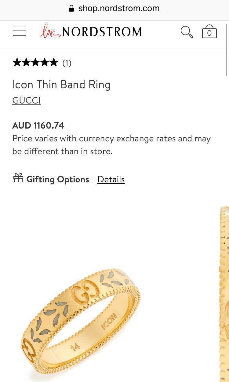 Gucci Icon Ring 18k Gold
