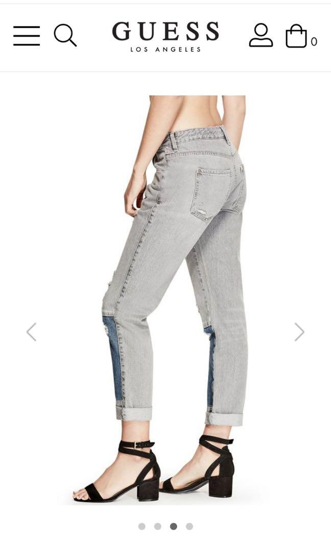 Guess brand new with tag grey and blue denim jeans