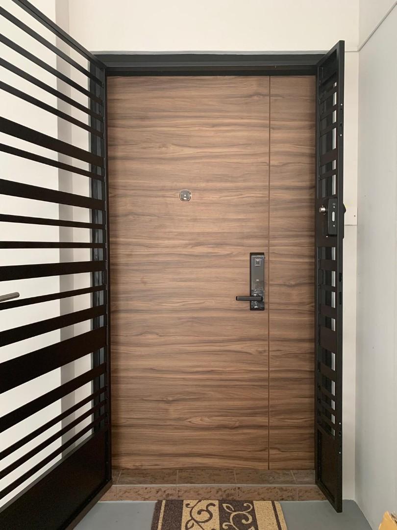 HDB Main Door  .  Metal Gate  .  Digital Lock